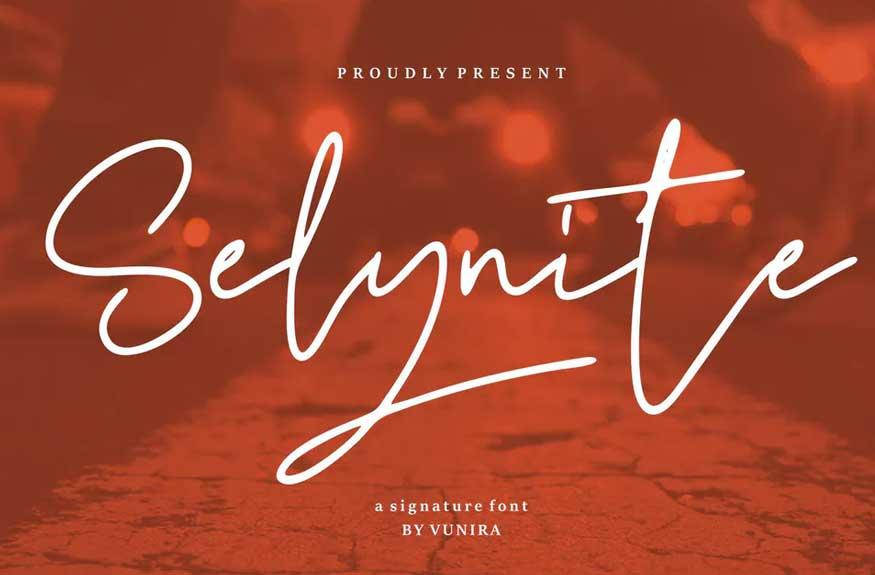 Selynite | A Signature Font