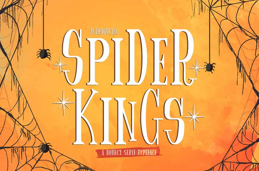 Spider King - Bouncy Serif Font