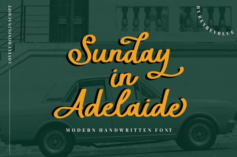 Sunday in Adelaide Script Font