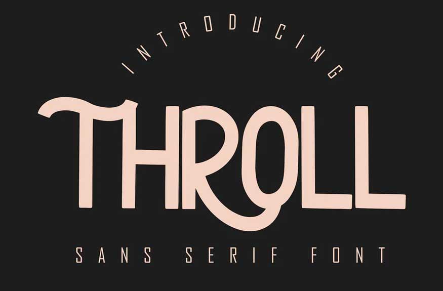 THROLL Modern Sans Serif