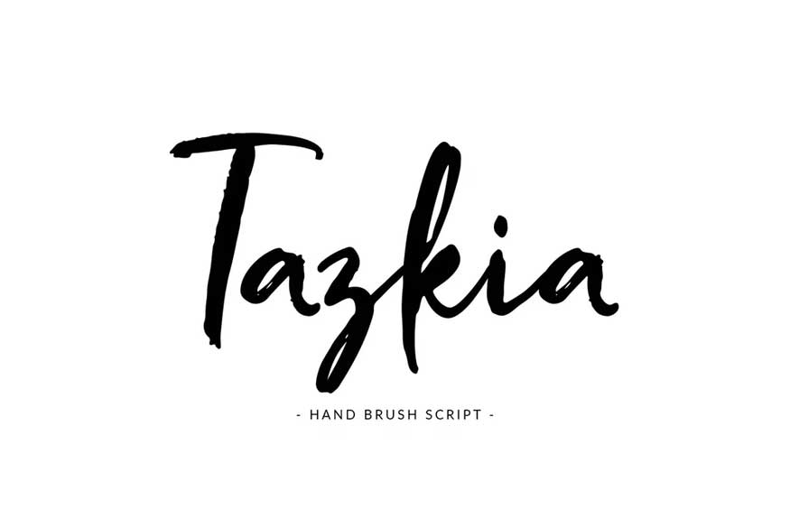 Tazkia - Handwritten Brush Font