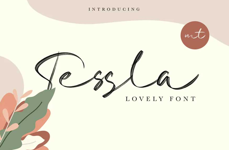 Tessla Script Font