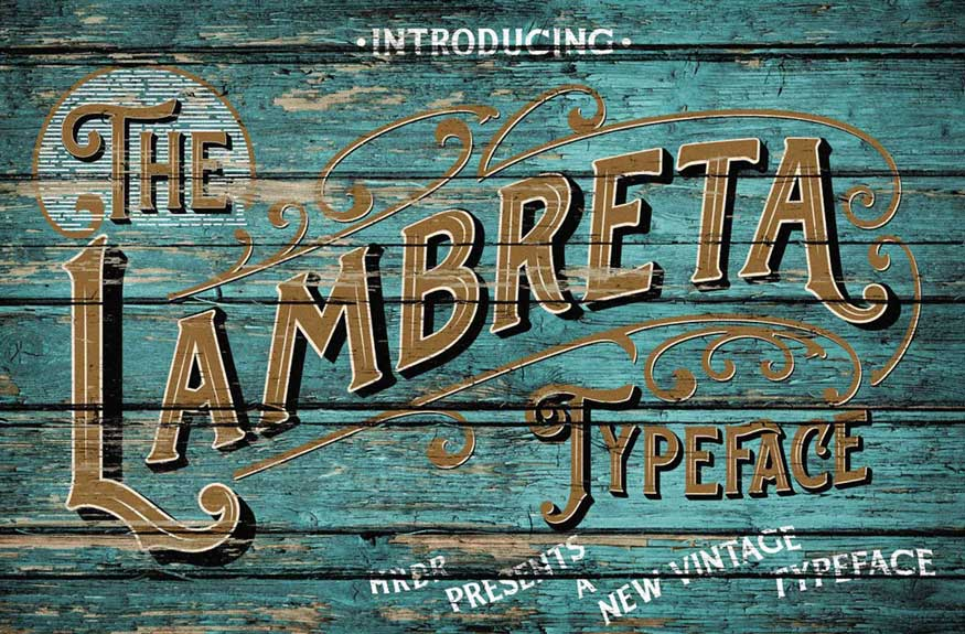 The Lambreta Font