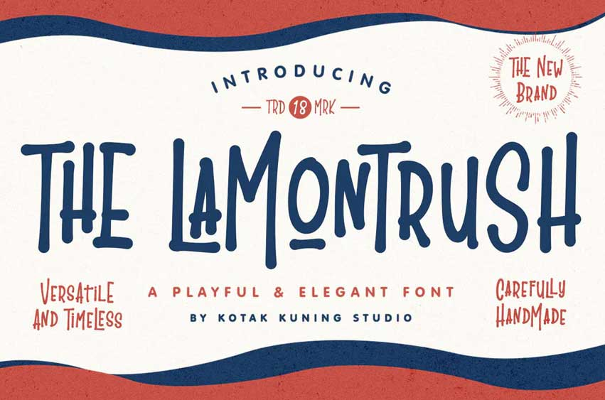 The Lamontrush Vintage Font