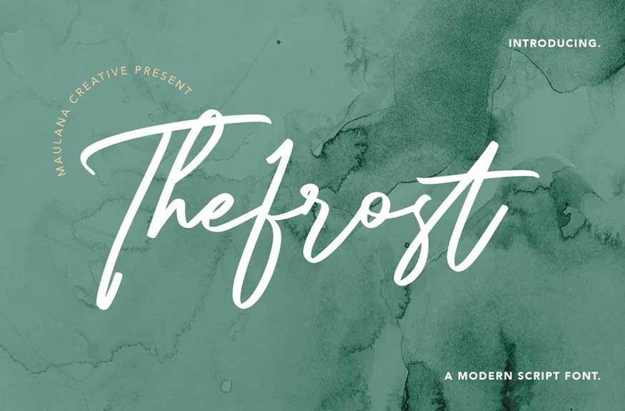 Thefrost Modern Script Font