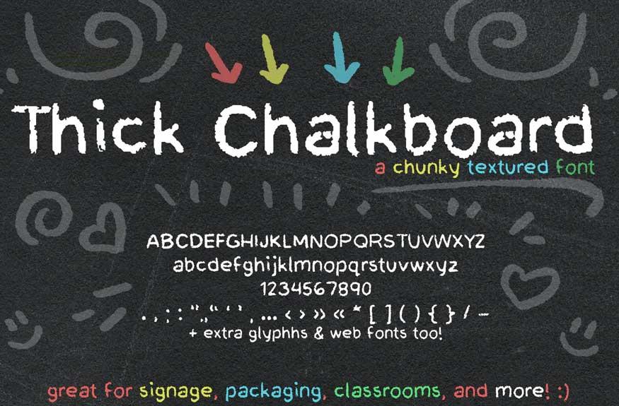 Thick Chalkboard Font