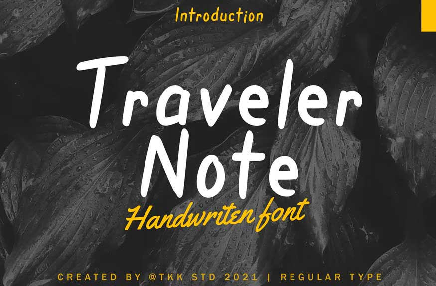 Traveler Note - Handwritten Font