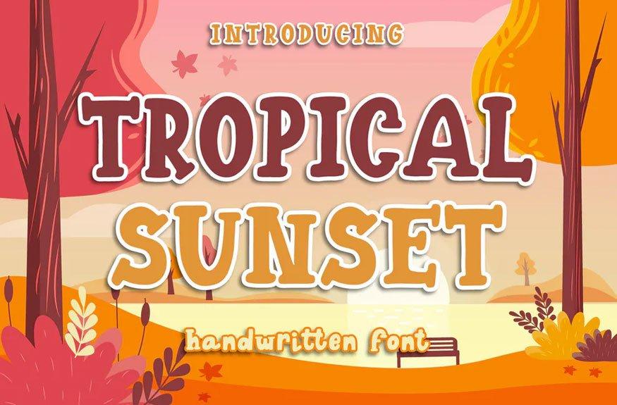 Tropical Sunset - Handwritten Font