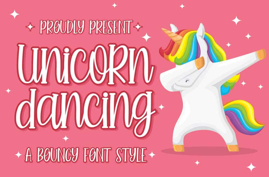 Unicorn Dancing Font