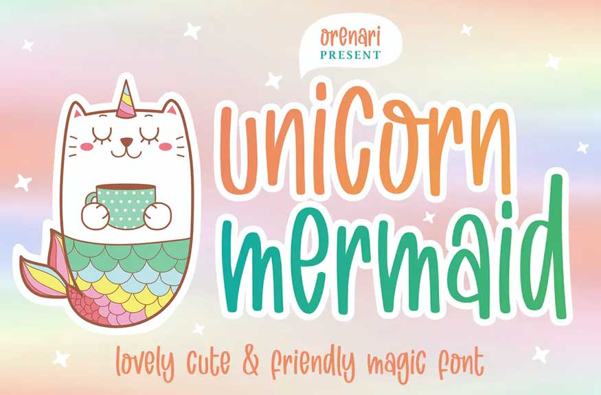 Unicorn Mermaid Font