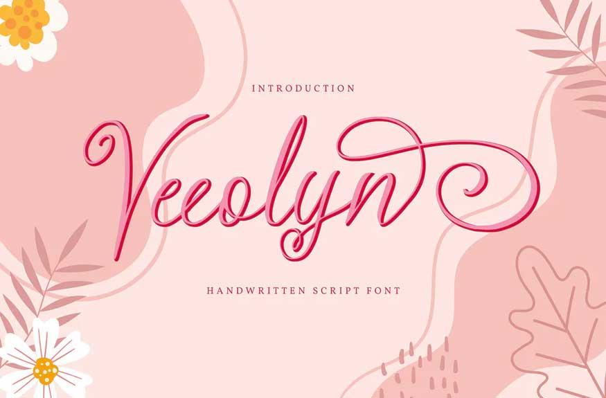 Veeolyn | Handwritten Script Font