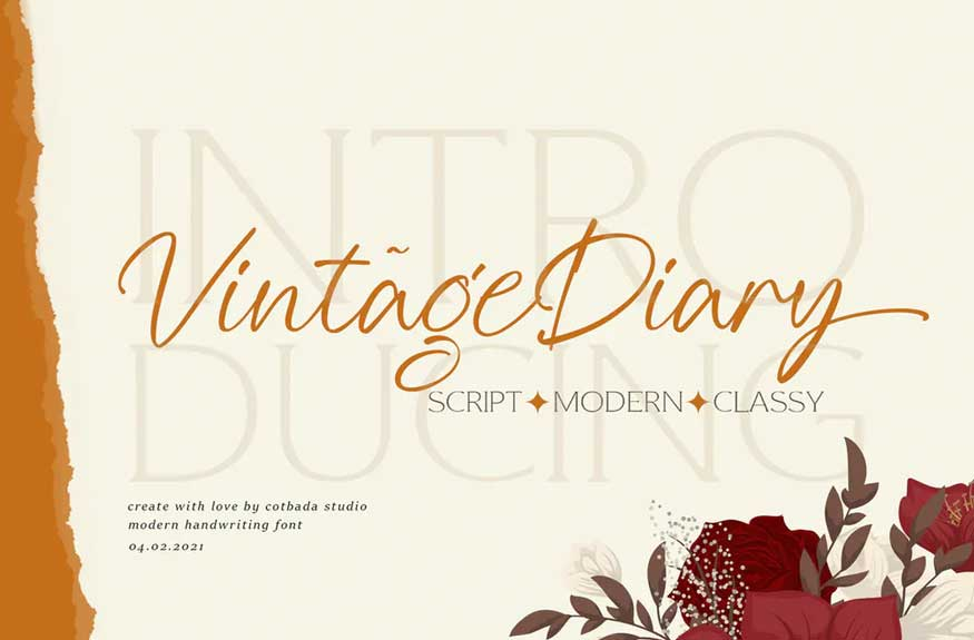 Vintage Diary Font
