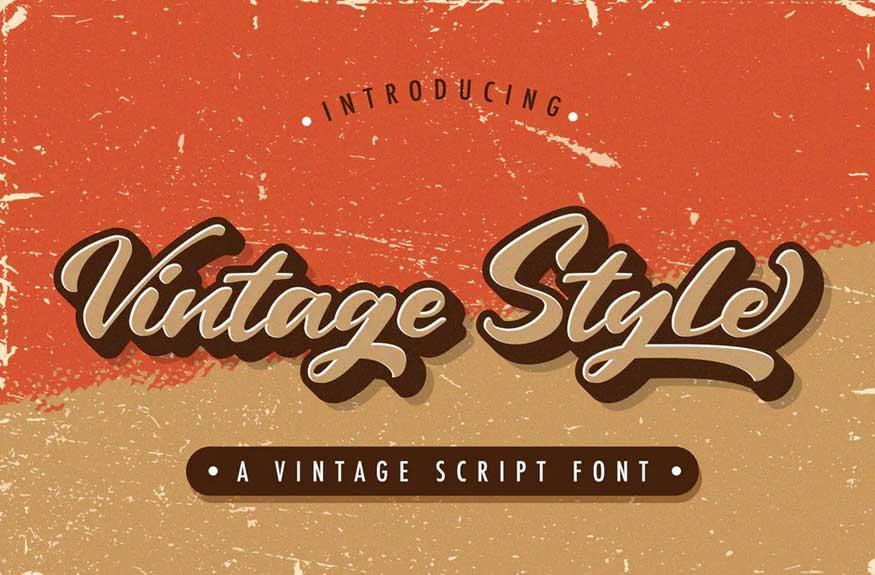 Vintage Style - Bold Script Font