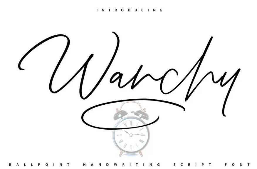 Wanchy Script Font