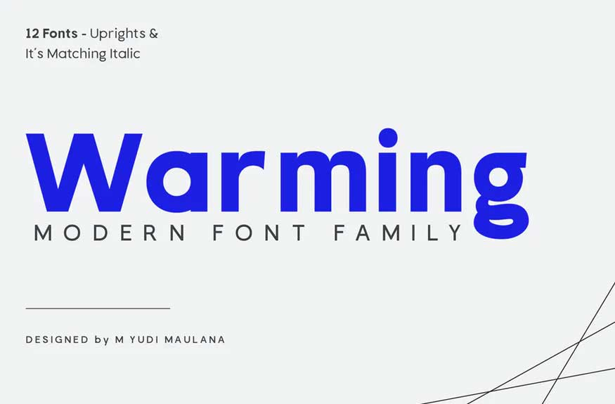 Warming Font Family