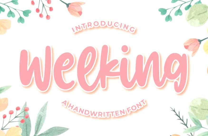 Welking – Handwritten Font