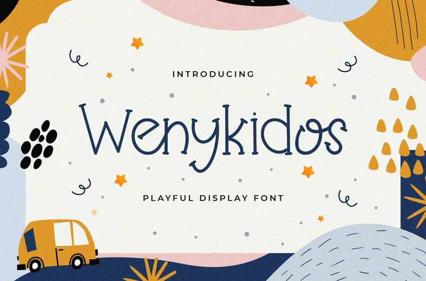 Wenykidos - Playful Display Font