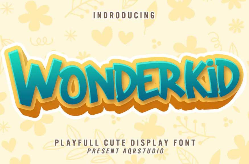 Wonderkid - Cute Display Font