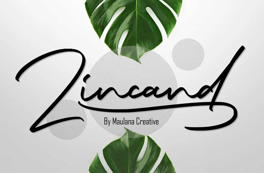 Zincand Modern Script Font