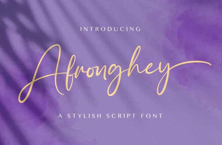 Afronghey Font