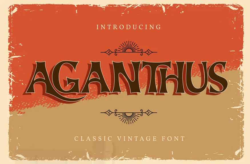 Aganthus Font