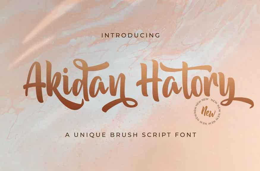 Akidan Hatory Font