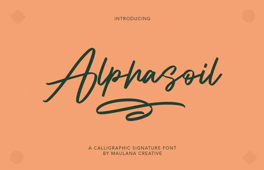 Alphasoil Signature Font