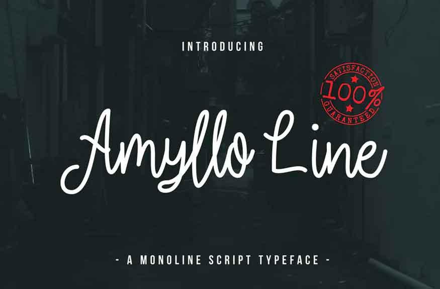 Amyllo Line Font