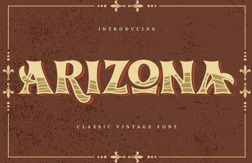 Arizona Classic Vintage Font
