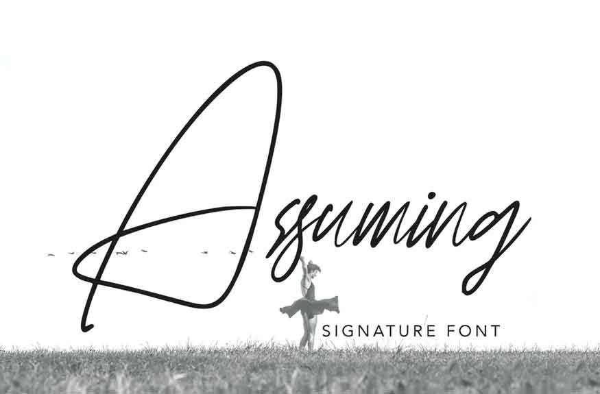 Assuming Font