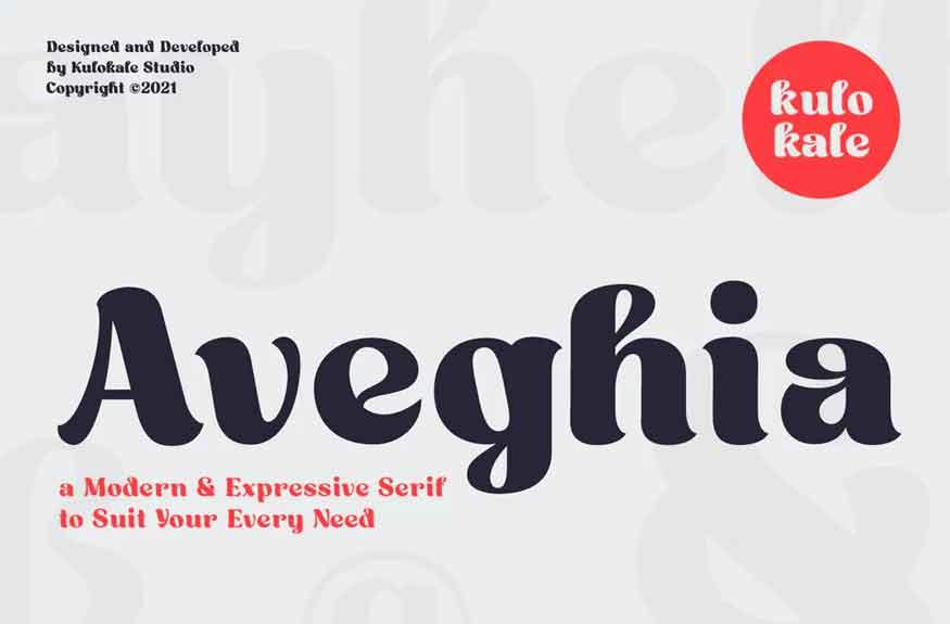 Aveghia Font