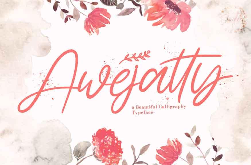 Awejatty Font