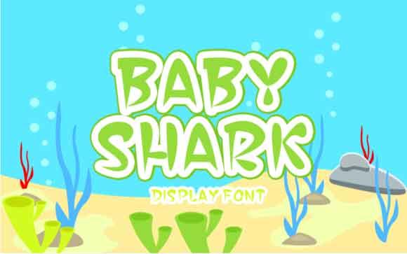 Baby Shark Font