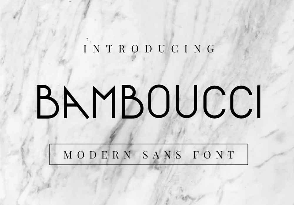 Bamboucci Font