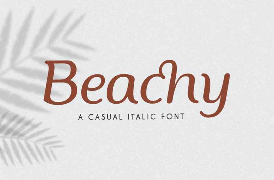 Beachy Font