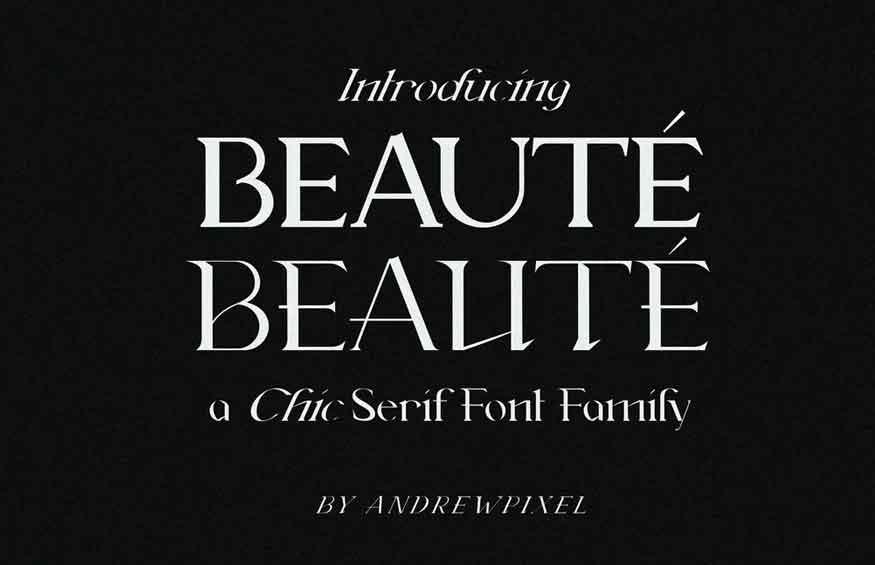 Beauté Font