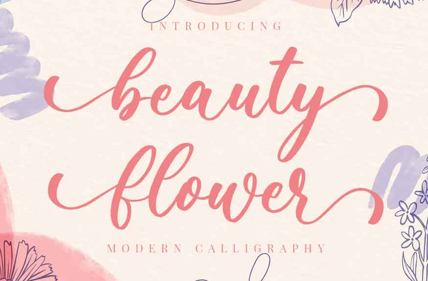 Beauty Flower Font