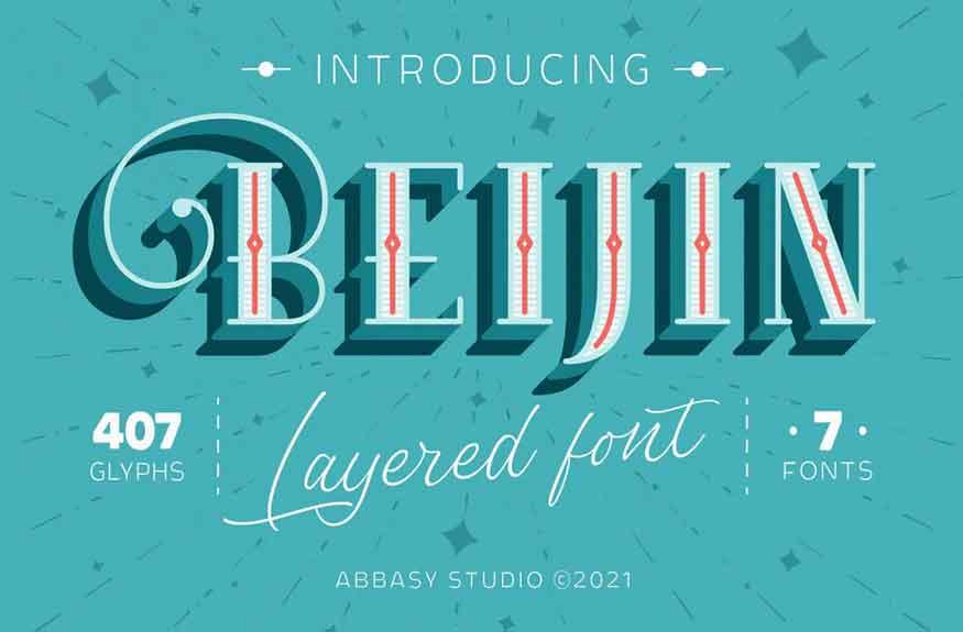 Beijin Layered Font