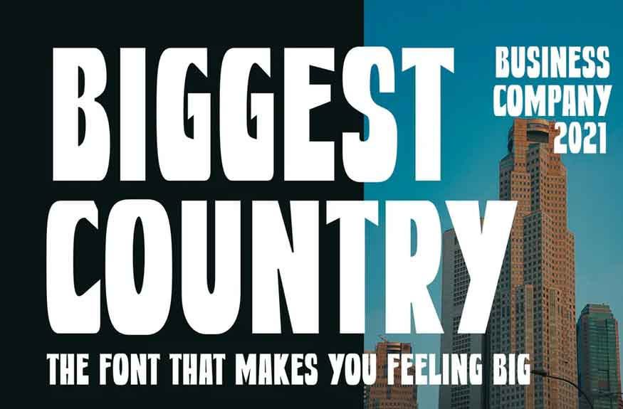 Biggest Country Font