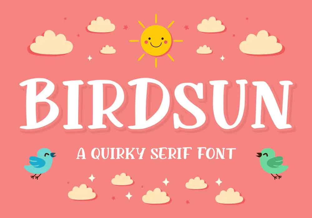 Birdsun Font