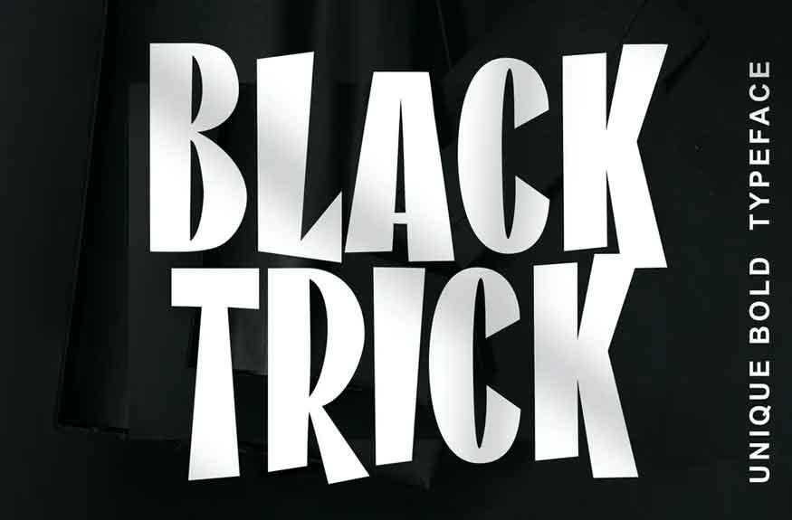 Black Trick Font
