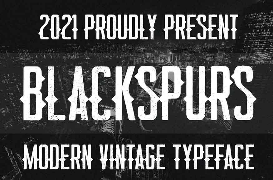 Blackspurs Font