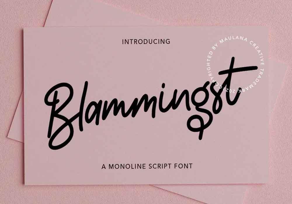 Blammingst Font
