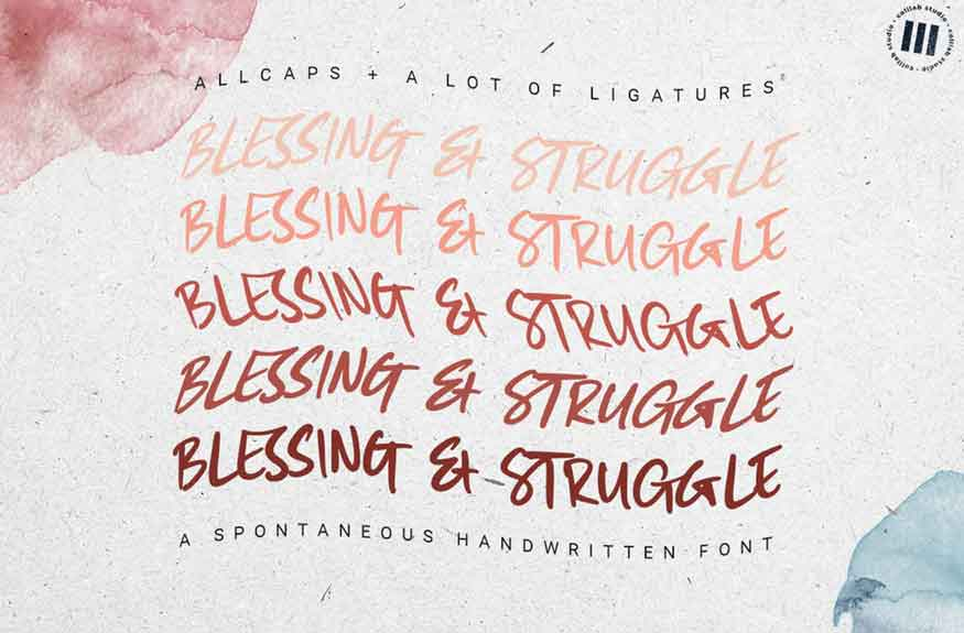 Blessing and Struggle Font