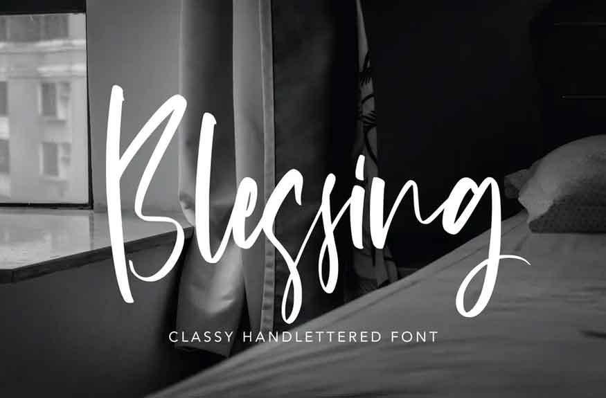 Blessing Font