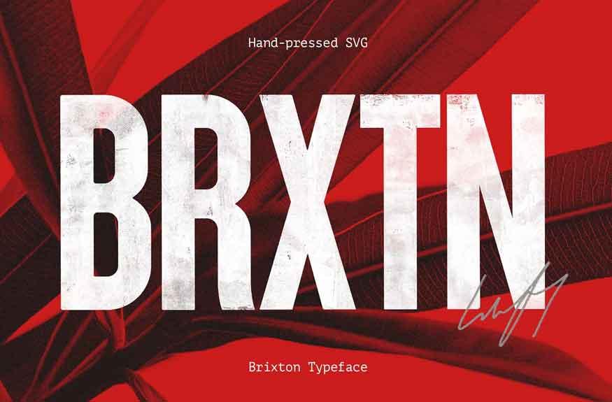 Brixton SVG Font