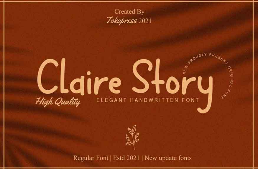 Claire Story Font