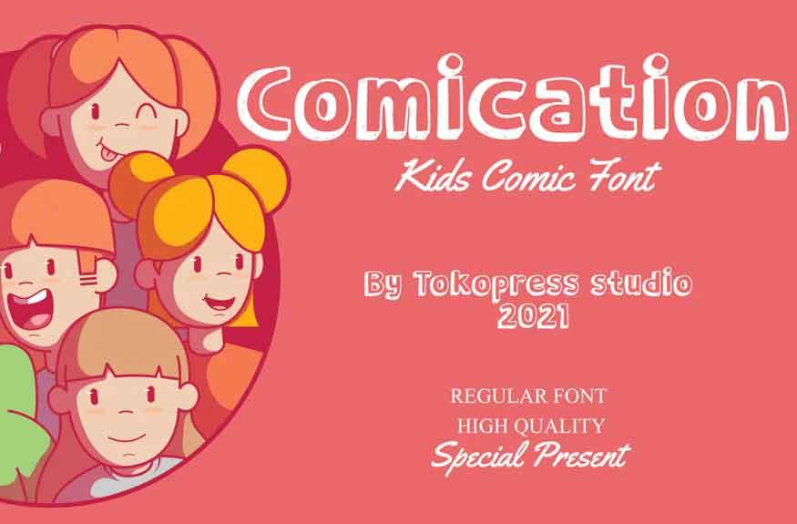 Comication Font