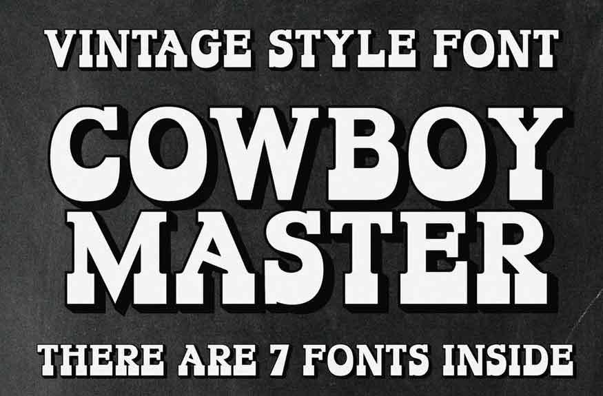Cowboy Master Font