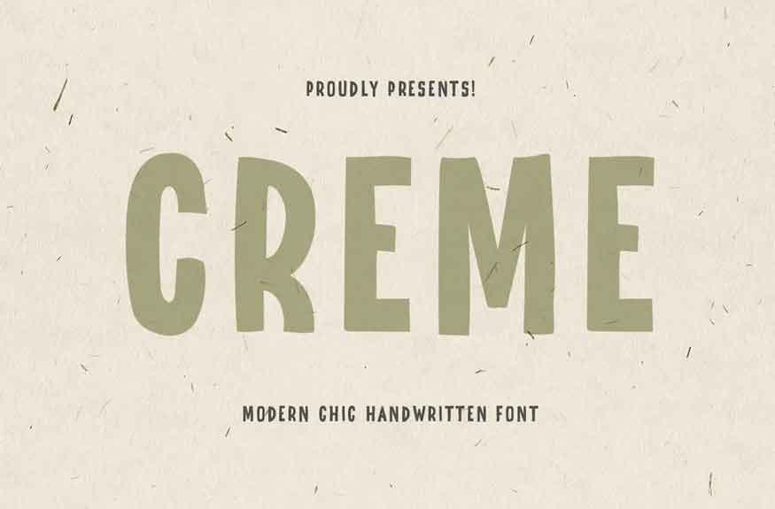Creme Font